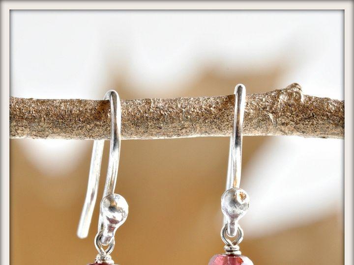 Tmx 1471323678233 Blossom Black Pearl And Garnet Earrings Seattle wedding jewelry