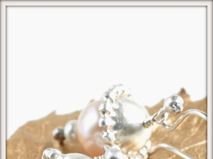 Tmx 1471323742734 Large Cosmos Pink And Silver Pearl Earringsalt Seattle wedding jewelry