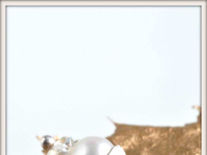 Tmx 1471323793850 Small Bon Bon White Pearl And Aquamarine Earringsa Seattle wedding jewelry
