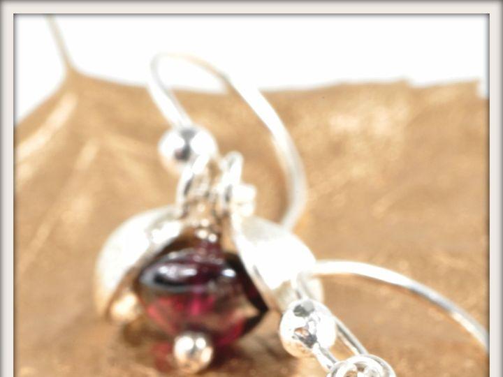 Tmx 1471323806106 Small Peapod Garnet Earringsalt2 Seattle wedding jewelry