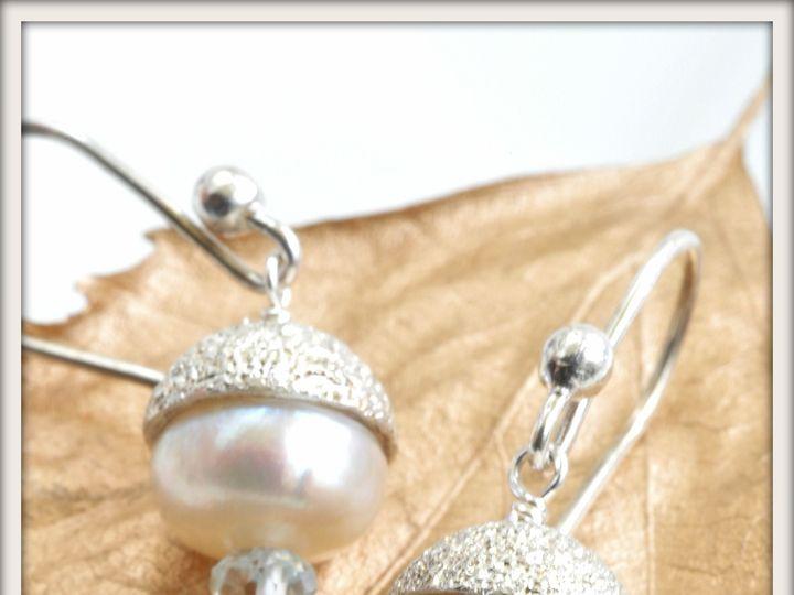Tmx 1471323849043 Starlet White Pearl And Aquamarine Earringsalt2 Seattle wedding jewelry
