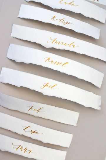 Deckled Edge Place Card Calligraphy