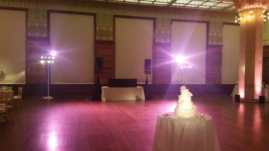 DJ lighting setup