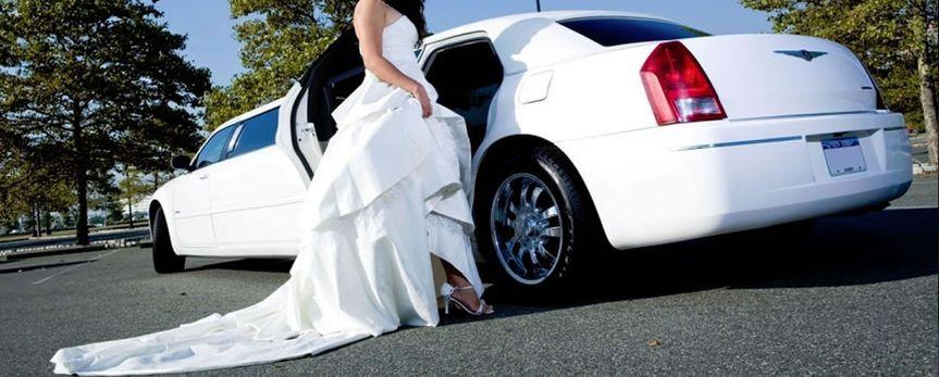 bride white limo