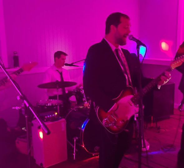 Rocking out at the Reception