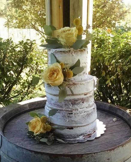 Naked cake at Equis Vineyard