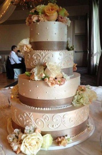 Buttercream scroll cake