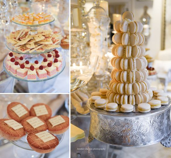Dessert bars are perfect for an informal shower or reception.