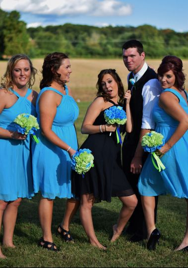 bridesmaids with jake