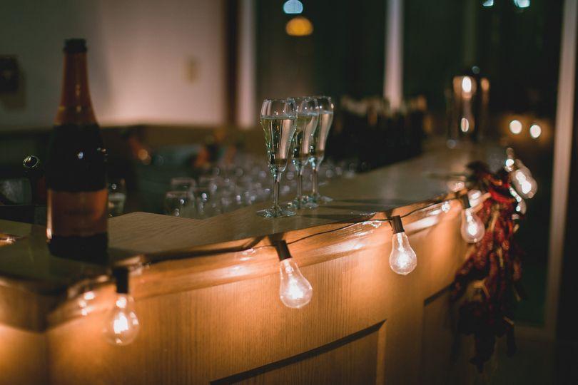 A fun bar setup in the Atrium