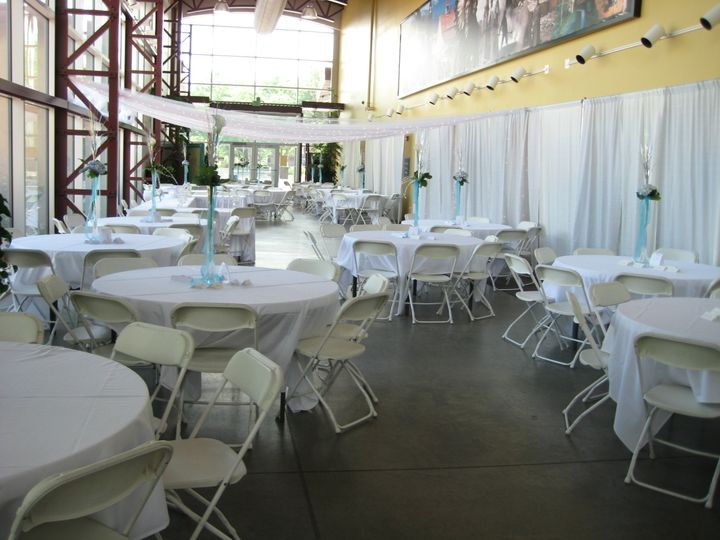 A reception in the Atrium