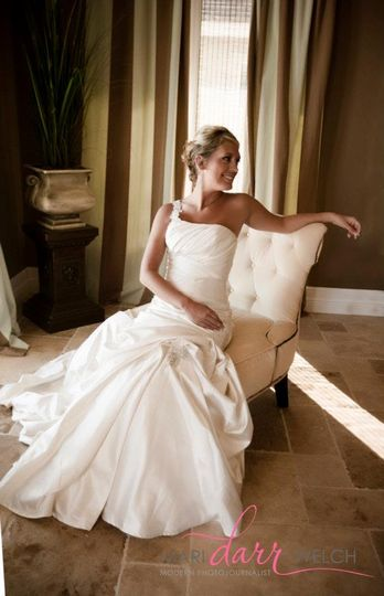 Classic elegant bridal look