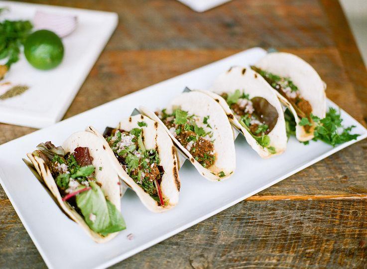 Taco serving
