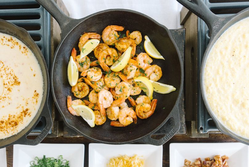Shrimp and lemons