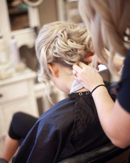 Creating a romantic hairdo