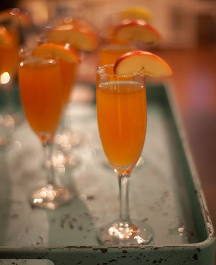 Mimosas served for guests