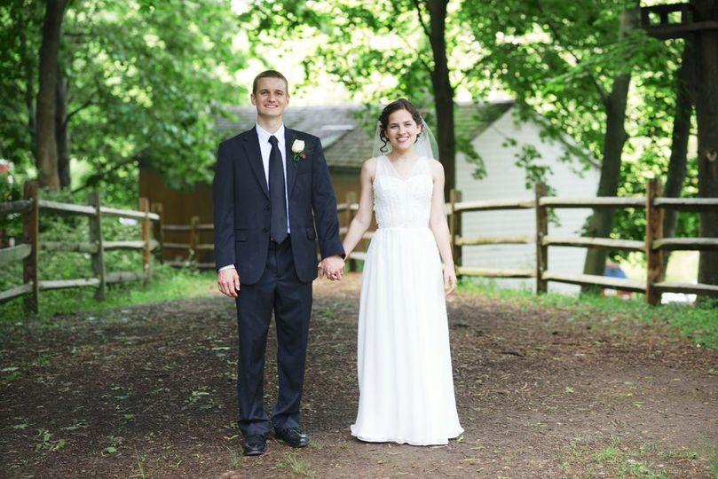 Real Bride- custom gown, veil