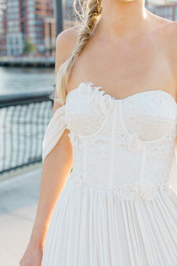 Real Bride- custom gown