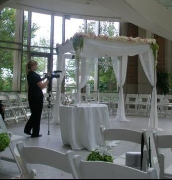 Chuppah with floral decoration