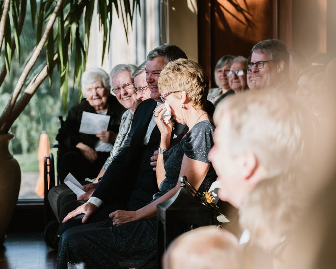 Family reacts to wedding vows