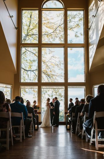 Boulder Ridge fall wedding