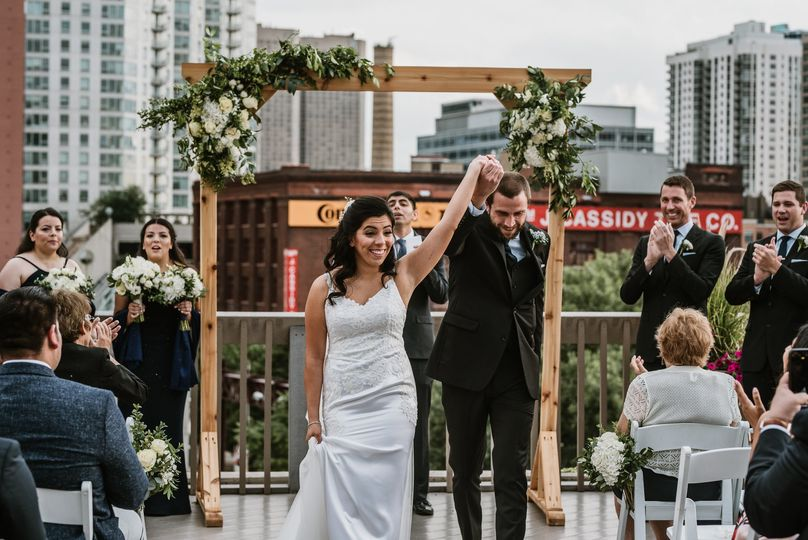 East Bank Club rooftop wedding
