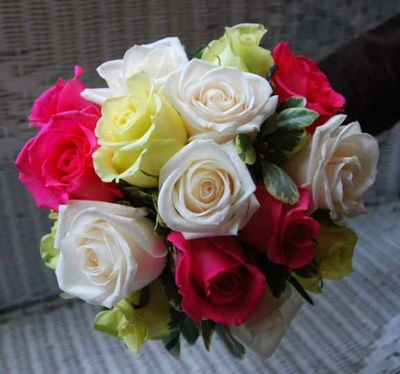 Roses in a hand tied bouquet Perfect for any season