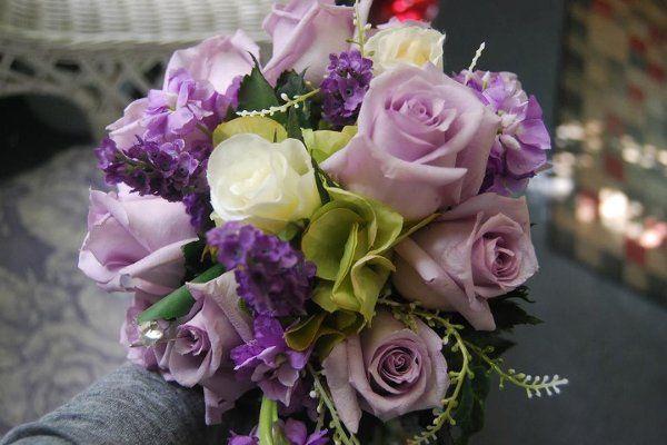 Lavender Purple White Bouquet