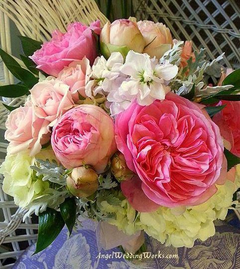 Peonies, roses, hydrangea