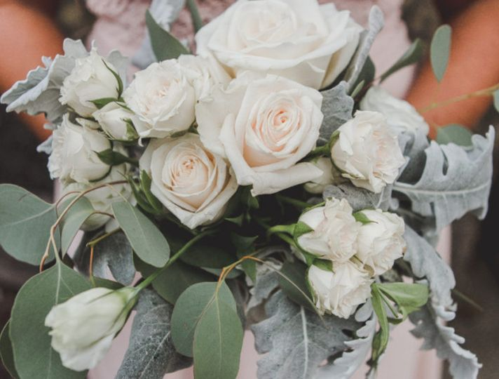 White Cream Blush Bouquet