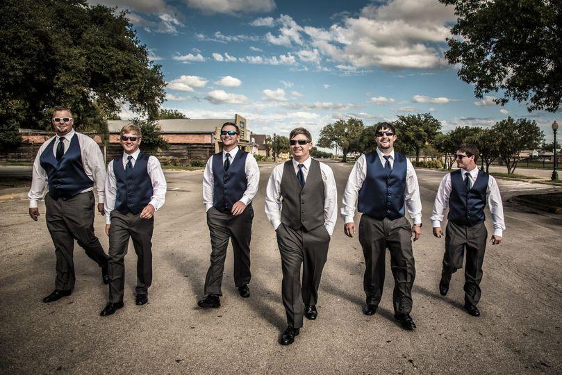 Before ceremony groomsmen