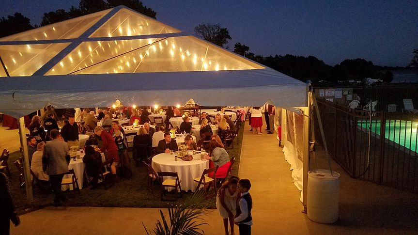 Tent reception near pool