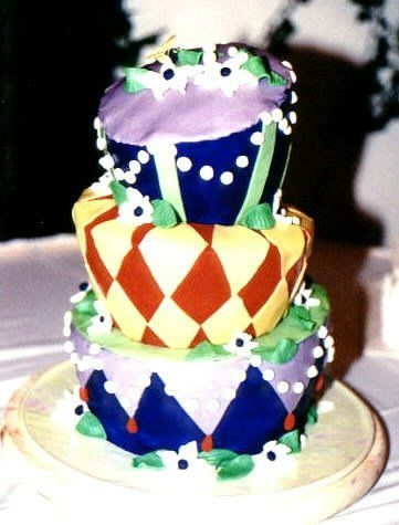 The wedding was on Halloween and the bride wanted a whimsical cake.