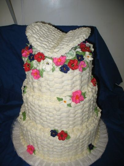 Basket of Flowers is how th e bride described her wedding cake to me. I want iy to look like flowers...
