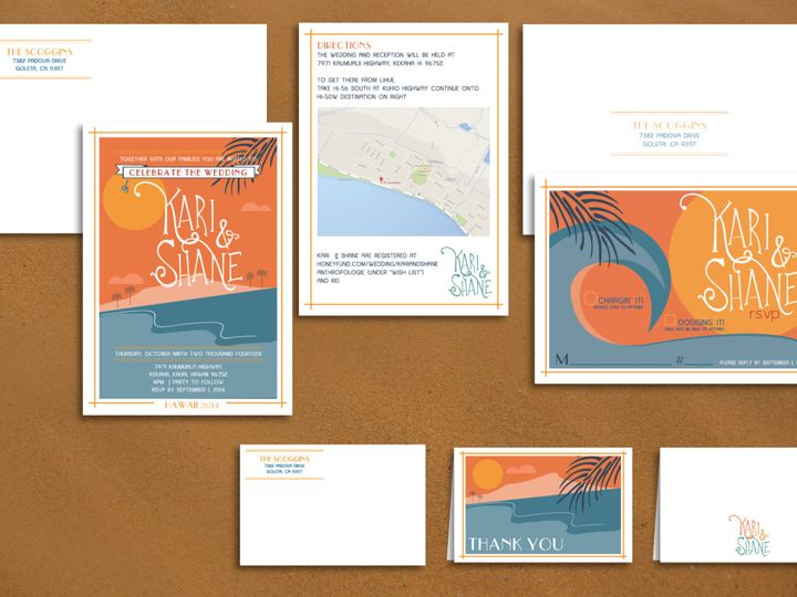 Tmx 1466441546770 Ilfullxfull.98868278412mw Santa Barbara wedding invitation