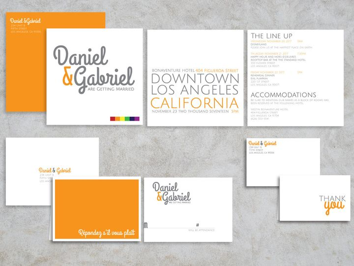 Tmx 1466573663157 Orangeblock Package1 Santa Barbara wedding invitation