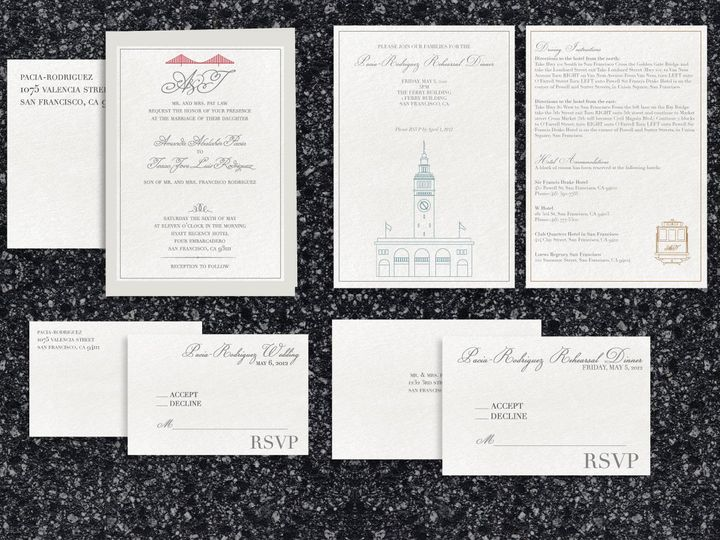 Tmx 1466977099272 Sf Package Santa Barbara wedding invitation