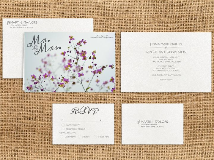 Tmx 1466977109285 Floral2 Package Santa Barbara wedding invitation