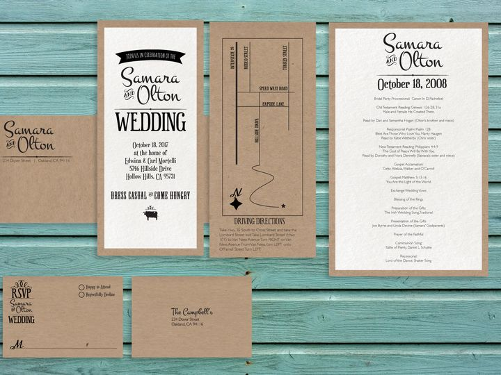 Tmx 1466978671164 Bbq Package1 Santa Barbara wedding invitation