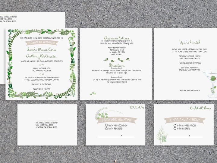 Tmx 1467148967334 Leaves Package Santa Barbara wedding invitation