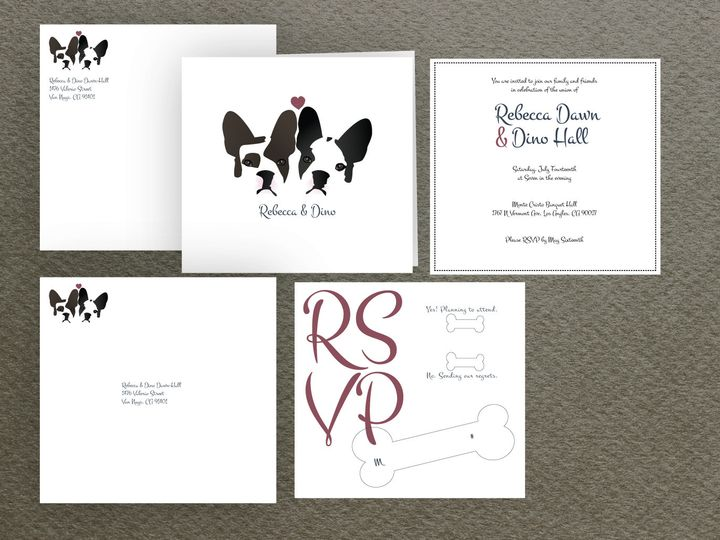 Tmx 1467907743613 Dog Package Santa Barbara wedding invitation