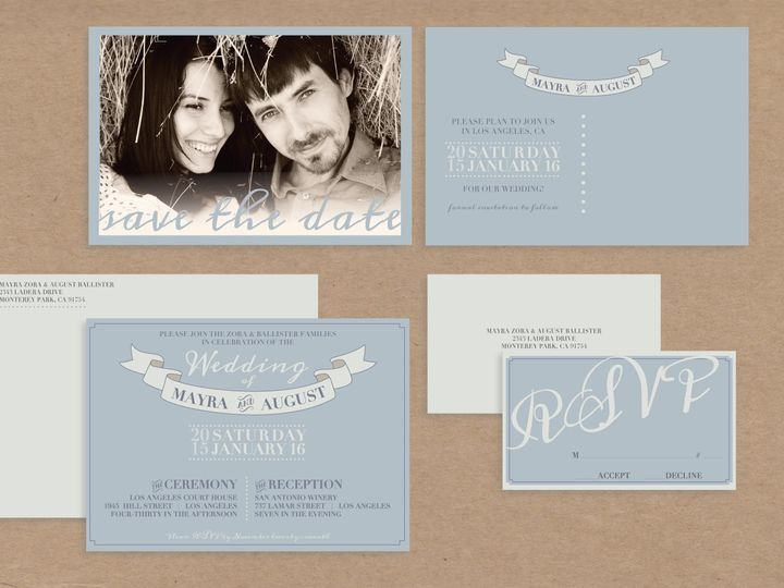 Tmx 1468259265866 Winter Package Santa Barbara wedding invitation