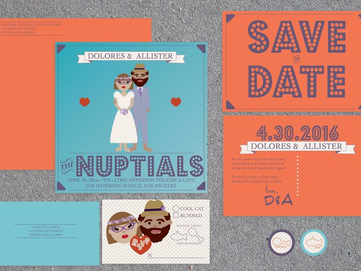 Tmx 1468440100798 Hipster Package Santa Barbara wedding invitation
