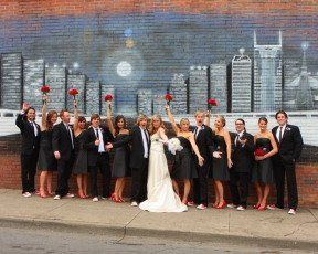 Nashville urban wedding photography
