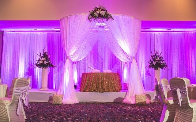 Stage lighting and drapery