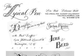Lyrical Pen - Hand Calligraphy