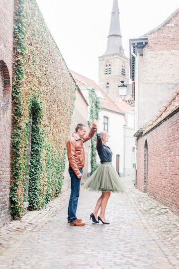 Engagement in Bruges, Belgium