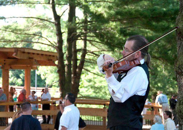 Strolling Violinist, Garden Party-University of Missouri, Edwardsville.