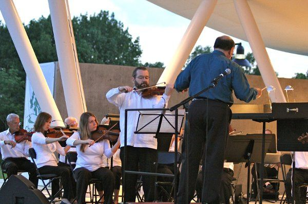 Outdoor amphitheater,  summer music series in Chesterfield Missouri.