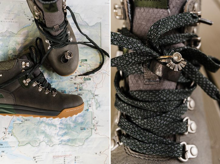 Hiking boots instead of heels